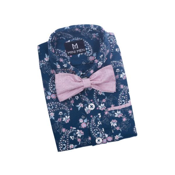 Dad n Son Twinning Bowtie Shirts Floral Paisley