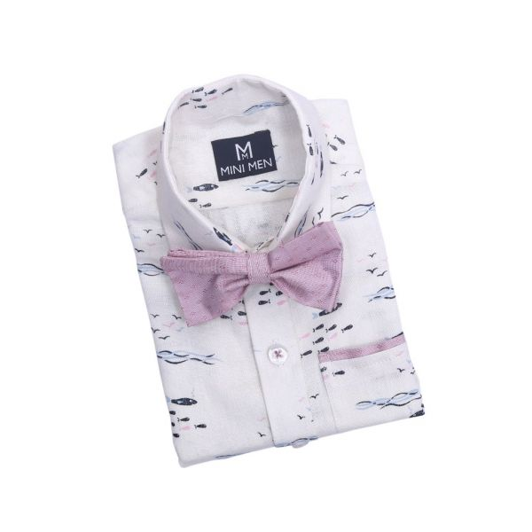 Bowtie Shirts Offwhite Fish