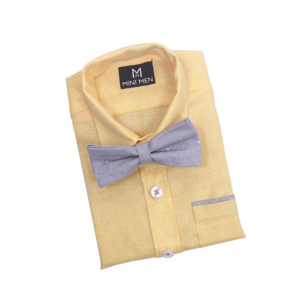 Bowtie Shirts Textured Yellow