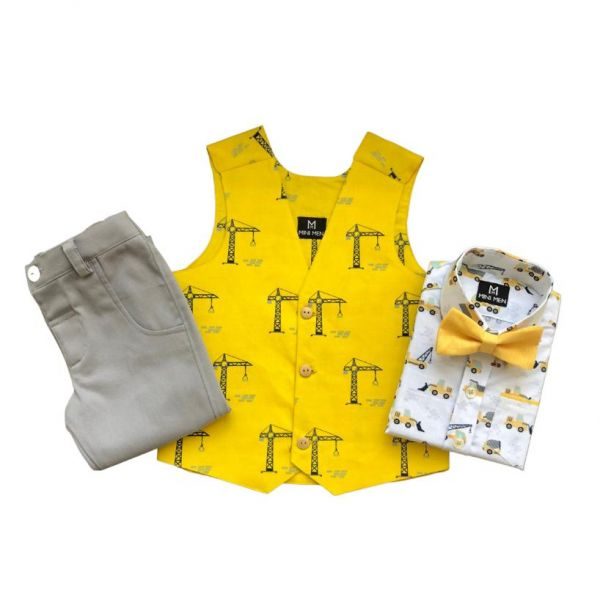 Birthday Set - Construction with grey pant